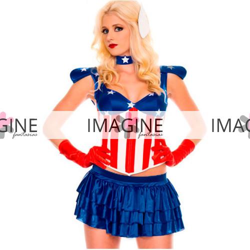 Fantasia Capita America Feminina