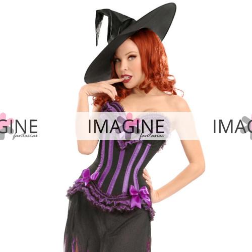 Fantasia Bruxa Corset Purple