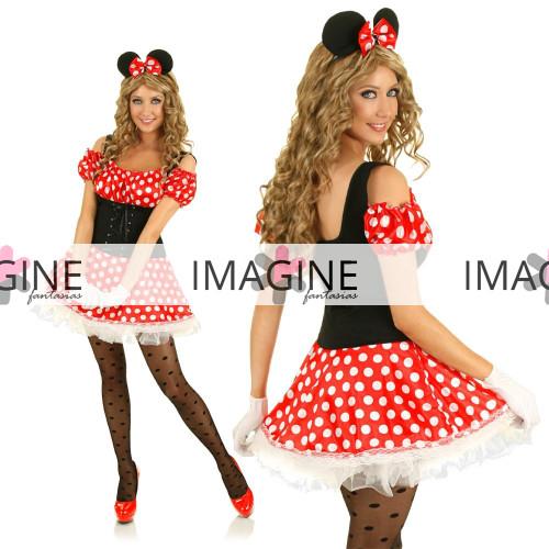 Fantasia Minnie (1) Feminina Adulta Importada Pronta Entrega