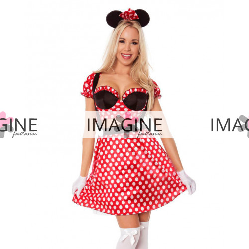 Fantasia Minnie Top Adulto
