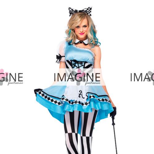 Fantasia Alice no País das Maravilhas Psicodélica Luxo