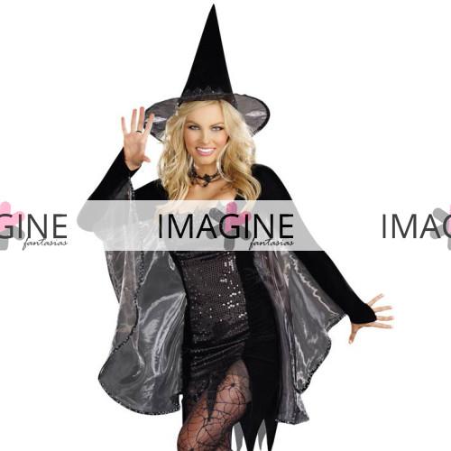 Fantasia Bruxa Halloween Luxo