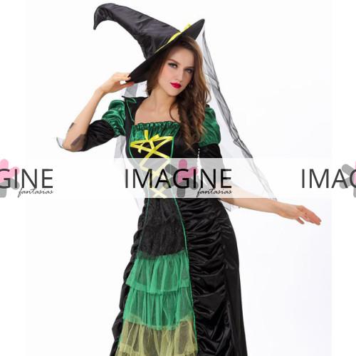 Fantasia Bruxa Green Luxo
