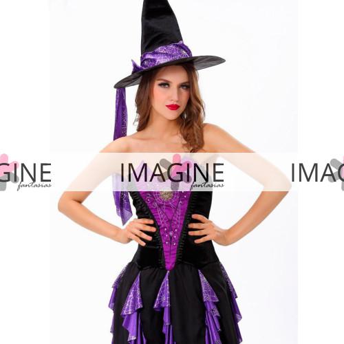 Fantasia Feiticeira Purple Luxo