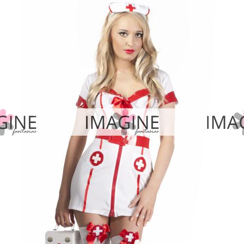 Fantasia Enfermeira Sensual White