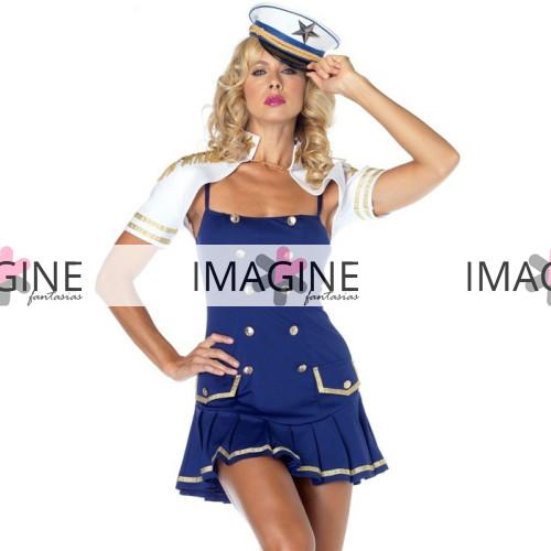 Fantasia Marinheira Blue Luxo