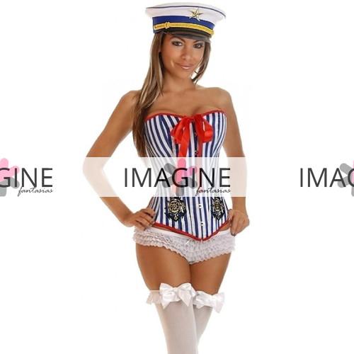 Fantasia Marinheira Corset Luxo