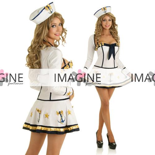 Fantasia Marinheira White Luxo