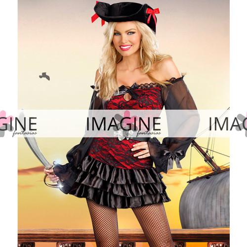 Fantasia Pirata Luxo Feminina Importada Pronta Entrega 1