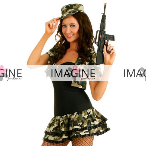 Fantasia Soldado Militar Feminina
