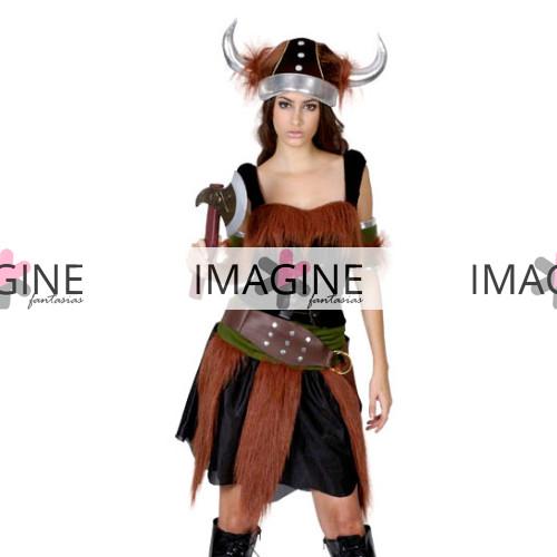 Fantasia Viking Luxo Feminina Importada Pronta Entrega